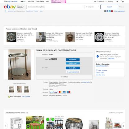 SMALL STYLISH GLASS COFFEE/SIDE TABLE | eBay