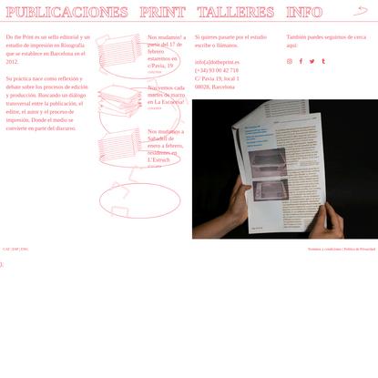 Do the Print - impressió en risografia - impresión en risografía - risograph printers Barcelona
