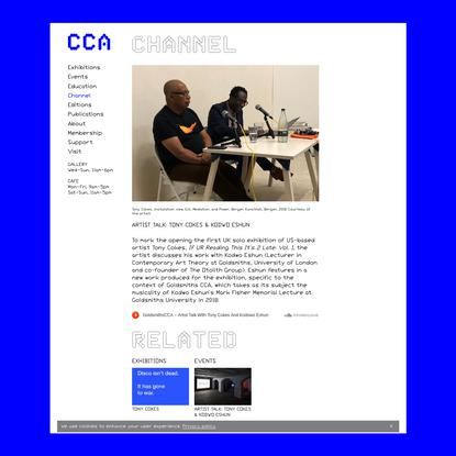 Artist Talk: Tony Cokes & Kodwo Eshun