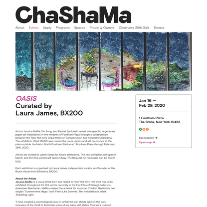 OASIS - Curated by Laura James, BX200 | Chashama