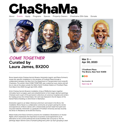 COME TOGETHER - Curated by Laura James, BX200 | Chashama