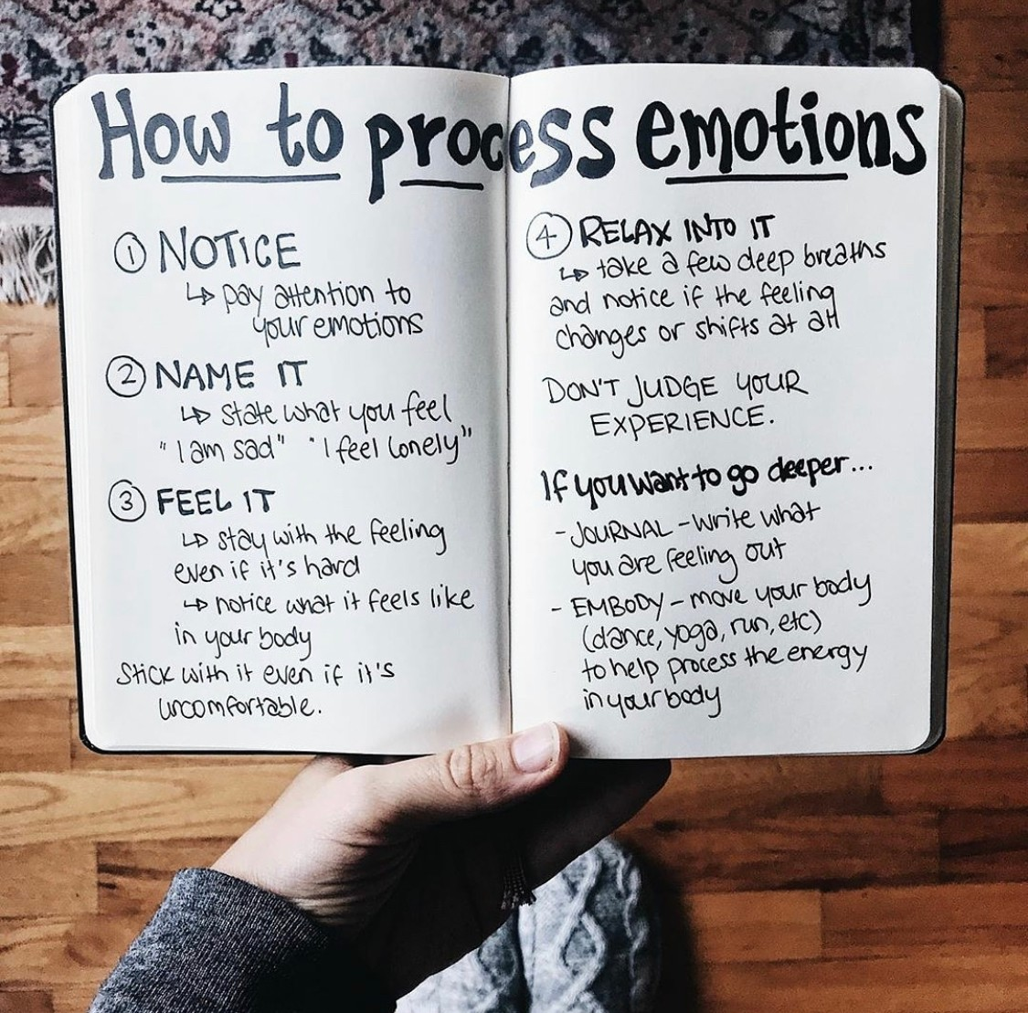 How to Process Emotions