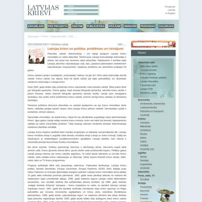 Latvijas krievi un politika: problēmas un risinājumi —