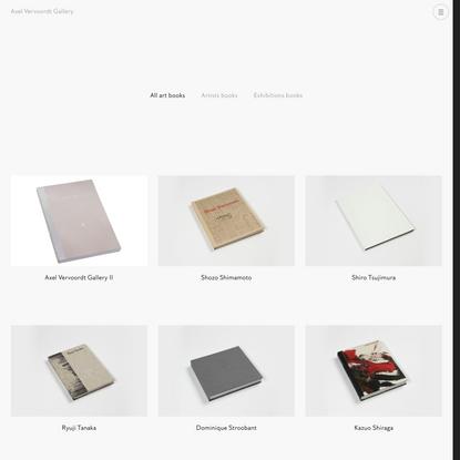 Axel Vervoordt Gallery Books