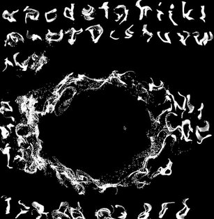 Typography particle experiments. #openframeworks . . . . #typeography #creativecoding #typedesign #particles