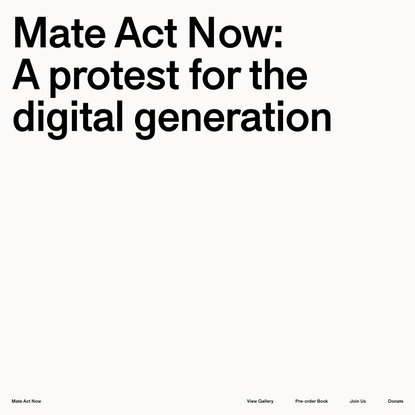 Mate Act Now