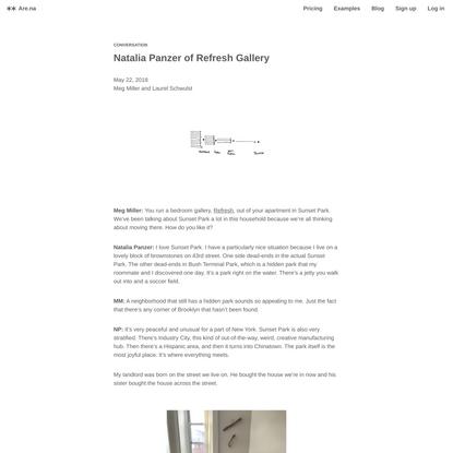 Are.na / Natalia Panzer of Refresh Gallery