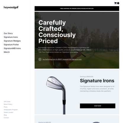haywoodgolf | high-quality, well-designed & affordable golf equipment