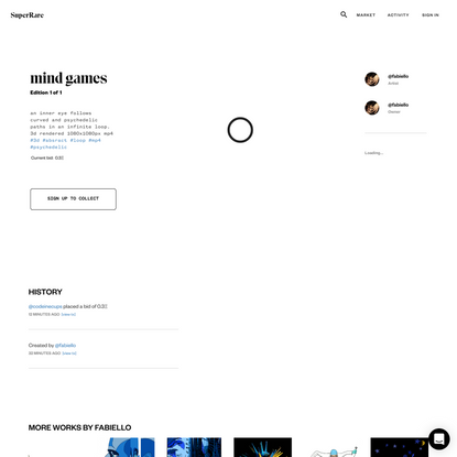 Authentic Digital Art - mind games | SuperRare