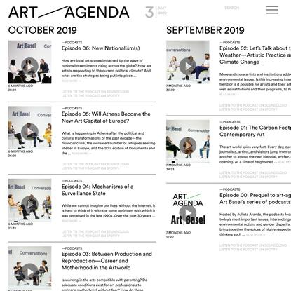 Podcasts - art-agenda