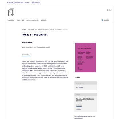 What is post digital
