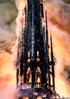 Spire on Fire