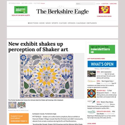 New exhibit shakes up perception of Shaker art
