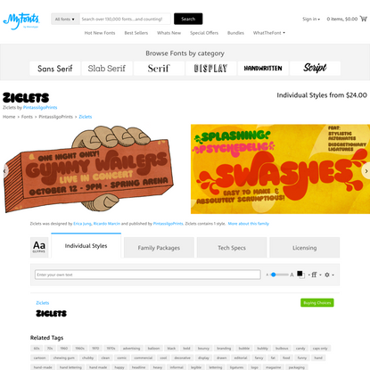 Ziclets | Webfont & Desktop font | MyFonts