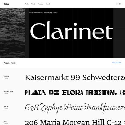 Setup — Fonts, Branding, Lettering.