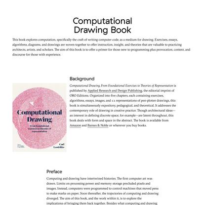 Carl Lostritto, Computational Drawing Book