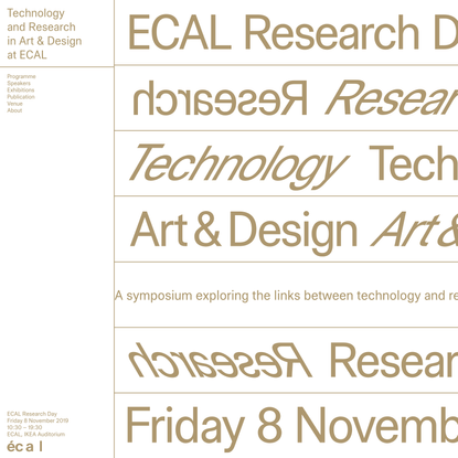 ECAL Research Day 2019