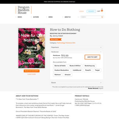 How to Do Nothing by Jenny Odell: 9781612197494 | PenguinRandomHouse.com: Books