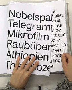 #KasperFlorio's work folder of #MonumentGrotesk 🐩 shown to Type Design Masters at #ECAL last week @ecal_ch @ecalmatd @lariss...