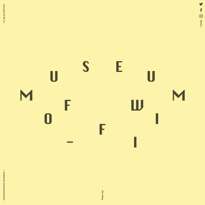 Museum of Wi-Fi