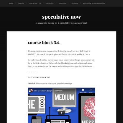 course block 3.4 – speculative now