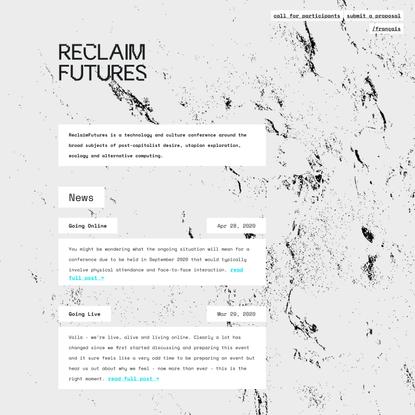 ReclaimFutures \ index