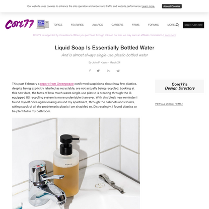 Liquid Soap Is Essentially Bottled Water - Core77