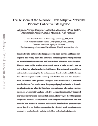 The Wisdom of the Network: How Adaptive Networks Promote Collective Intelligence