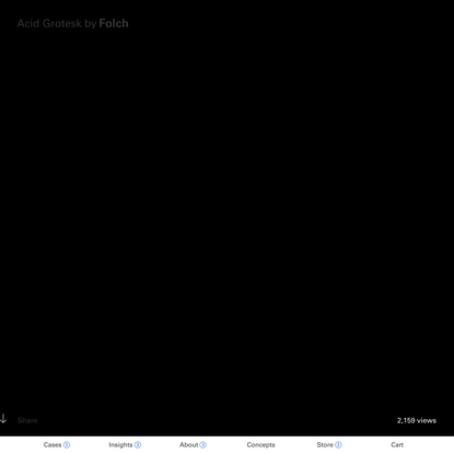 Acid Grotesk | Design by FOLCH