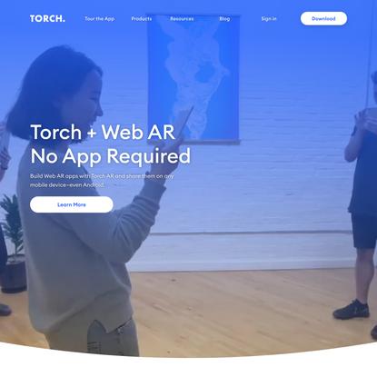 Torch AR: Design, Build & Publish AR Apps—iOS, WebAR, Spark AR & more.