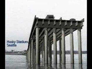 SR 520 Floating Bridge - Simulated failure by earthquake