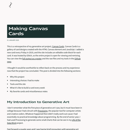 Making Canvas Cards   Friend of Pixels