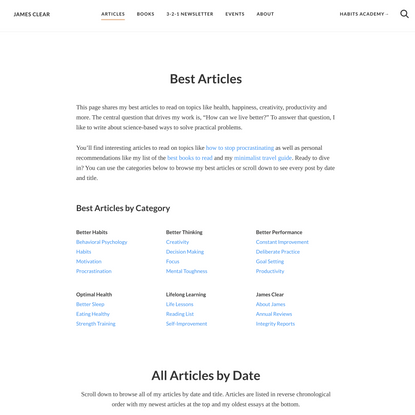Best Articles: Over 100 Interesting Articles to Read