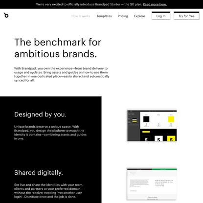 Create a brand experience — Brandpad™