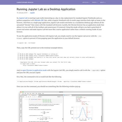 Running Jupyter Lab as a Desktop Application - Jupyter