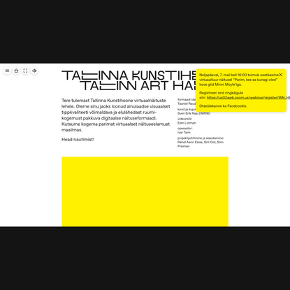 Tallinna Kunstihoone virtuaalnäitus