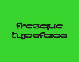 fresque - typeface
