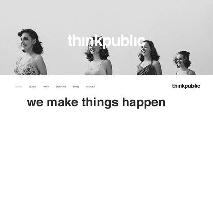 Service Design | thinkpublic | London