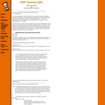 OSP - Tourney DM - A Quake II Mod