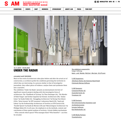 Under the Radar   S AM Schweizerisches Architekturmuseum