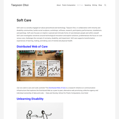 Soft Care – Taeyoon Choi
