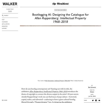 Bootlegging Al: Designing the Catalogue for Allen Ruppersberg: Intellectual Property 1968–2018