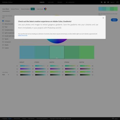 Color wheel, a color palette generator | Adobe Color
