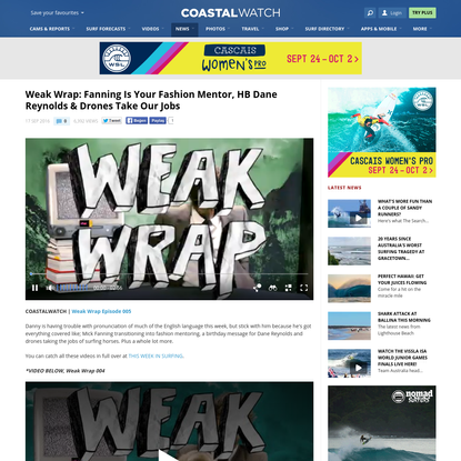 Weak Wrap: Fanning Is Your Fashion Mentor, HB Dane Reynolds & Drones Take Our Jobs