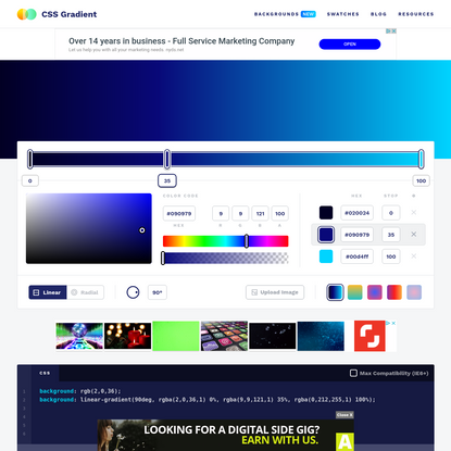 CSS Gradient - Generator, Maker, and Background