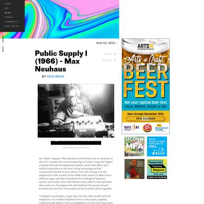 Public Supply I (1966) - Max Neuhaus