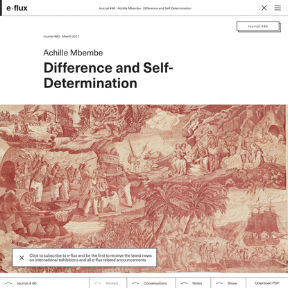 Difference and Self-Determination