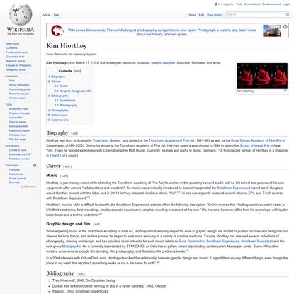 Kim Hiorthøy - Wikipedia, the free encyclopedia