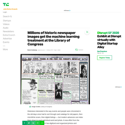 Millions of historic newspaper images get the machine learning treatment at the Library of Congress