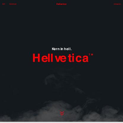 Hellvetica.ttf   Kern in hell